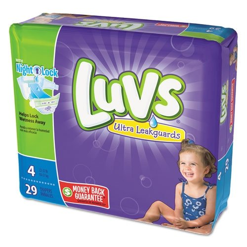 Luvs Ultra Leakguards Diapers - Size 4 - 29 ct