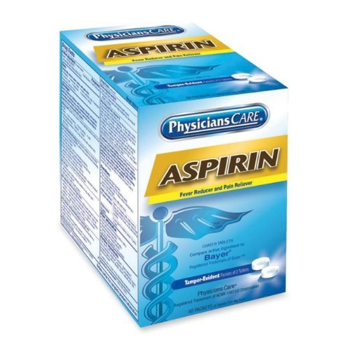 PhysiciansCareTM Physicians Care Aspirin Tablets, 50 Two-Packs per Box by PhysiciansCareTM