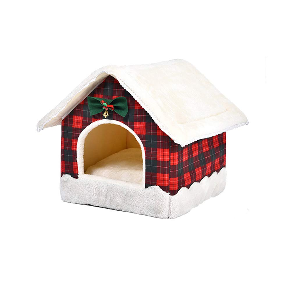 A Stopffiy Cat litter winter kennel warm winter cat supplies cute creative pet supplies (color   A)