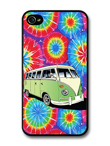 New Hippy Trippy Campervan Design Illustration Cool Art coque pour iPhone 4 4S