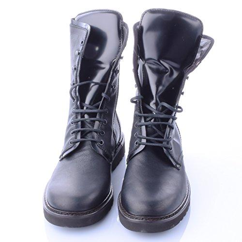 Pal Zileri Herren Stiefel/Boots Leder Schwarz Extralight
