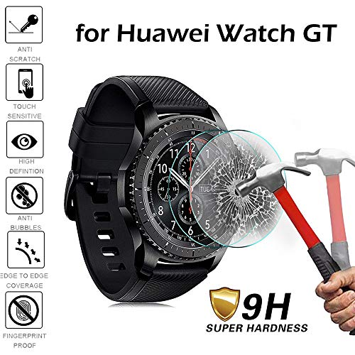 Price comparison product image Huawei Watch GT Screen Protector, Explosion-proof Scratch-Resistant 9H Hardness HD Clear Tempered Glass - Chartsea (1)