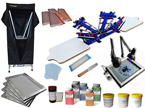 4 Color 2 Station Screen Printing Kit C by Screen Printing Kits