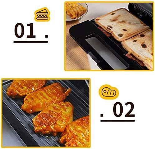 Medium Fit fabricants barbecue grill, machine à petit-déjeuner, Fill plaques non Profond-Stick chaudes, contrôle de la température de cuisson électrique sécurité Pan, noir