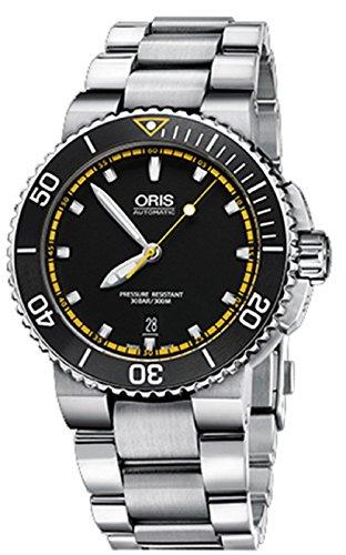 Oris-Aquis-Mens-Date-42MM-Automatic-Black-Face-Stainless-Steel-Bracelet-Swiss-Watch-73376534127MB