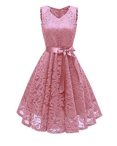 V lace Rbb De Magnífico Vestido rosado Encaje Huayi Fiesta xl RU6Ppqw