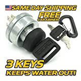 Power King, HD Switch - 46813 Starter Ignition Switch w/Protective Cover & Soft-Grip Key