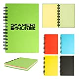 5'' X 7'' Spiral Notebook Colored Paper - 100 Quantity - PROMOTIONAL PRODUCT / BULK / BRANDED with YOUR LOGO / CUSTOMIZED - Kineticpromos #6112 (Black)