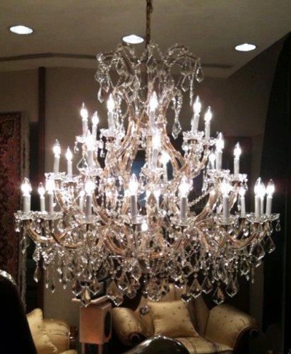 Gallery 52×52-Inch Crystal Chandelier Lighting