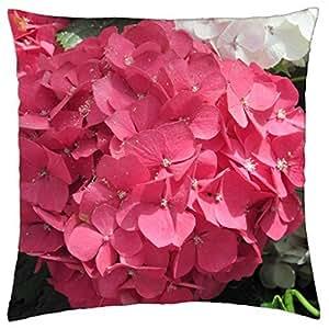 Colorful Flowers a garden makeup 100 - Throw Pillow Cover Case (18