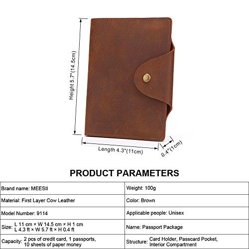 Corto Retro Identificación Primera De Cuero Capa Simple Bolsa Billetera Unisex Brown xzwPtq