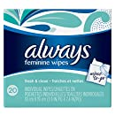 "Always Lightly Scented Wipes-To-Go, 3.9"" X 7.4"",  20 Count (Pack of 4)"