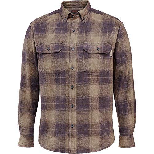 Wolverine Men's Redwood Heavy Weight Two Sided Brushed Flannel Shirt, Granite Plaid, X-Large - Heavyweight Flannel