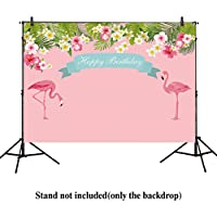 Allenjoy 8x6ft photography backdrops Girls Flamingo children Birthday party banner pink floral Tropical Style Beach or Aloha photo studio booth background newborn baby shower photocall