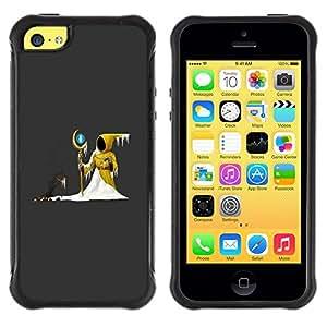 Suave TPU Caso Carcasa de Caucho Funda para Apple Iphone 5C / Wizzard Hood Snow Fairytale Stick Magic Ball / STRONG