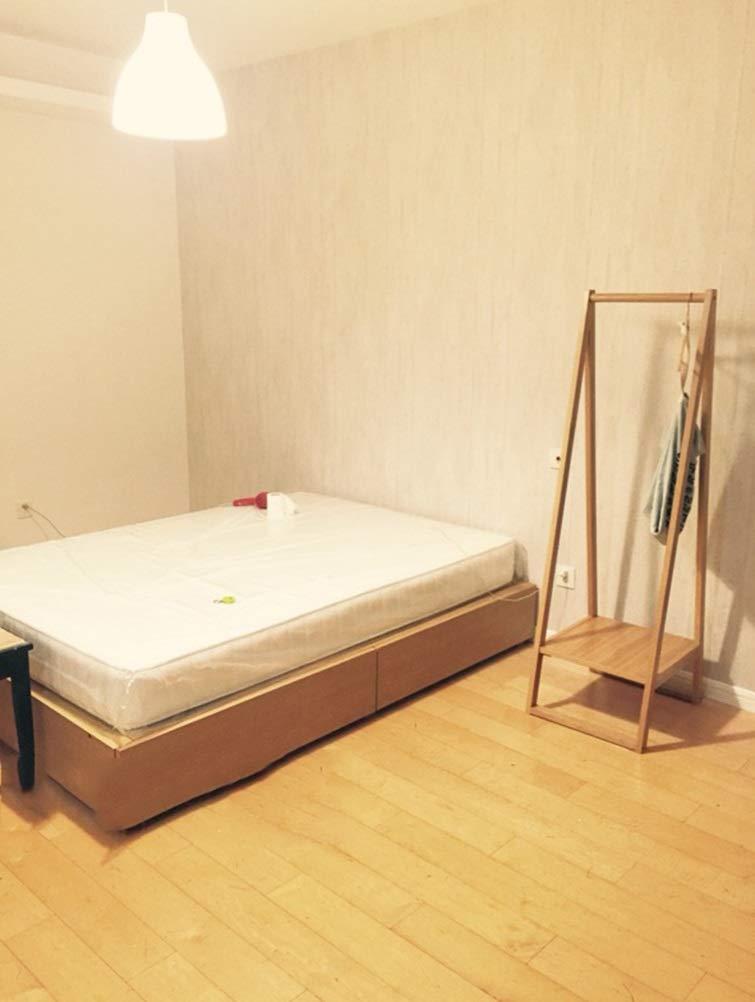 0889 NIUZIMU Garderobe Bodenst/änder aus massivem Holz Schlafzimmer Wohnzimmer Kleiderst/änder Einfache wei/ße Eiche Bodenaufh/änger Garderobenst/änder