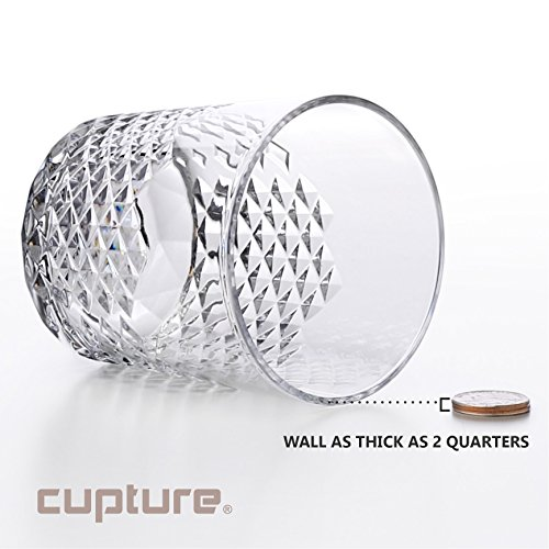 Cupture Diamond Plastic Tumblers BPA Free, 24 oz / 14 oz, 8-Pack (Clear) by Cupture (Image #5)