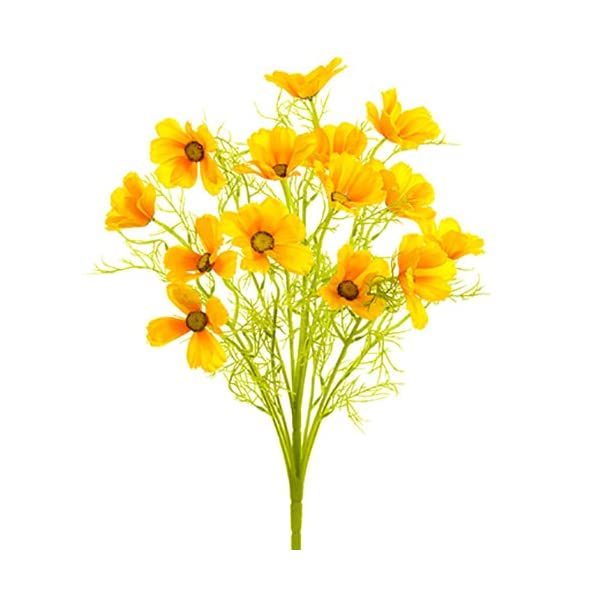 22″ Silk Cosmos Flower Bush -Yellow (Pack of 6)