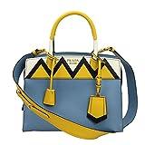 Prada Blue Leather Tote Bag With Shoulder Strap 1ba046 Astral+soleil