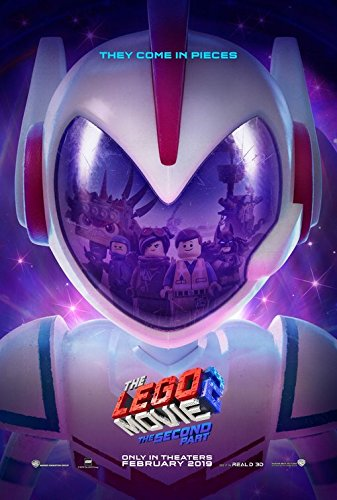 THE LEGO MOVIE 2-13.5'x20' Original Promo Movie Poster SDCC 2018 Embossed Chris Pratt