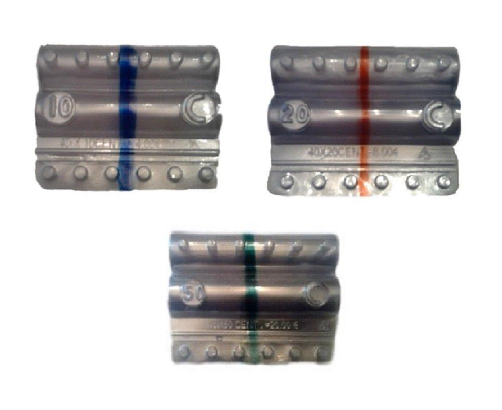 Blister per monete euro - Kit 150 blister portamonete misti da 10-20 - 50 centesimi (3 x 50) Iternet