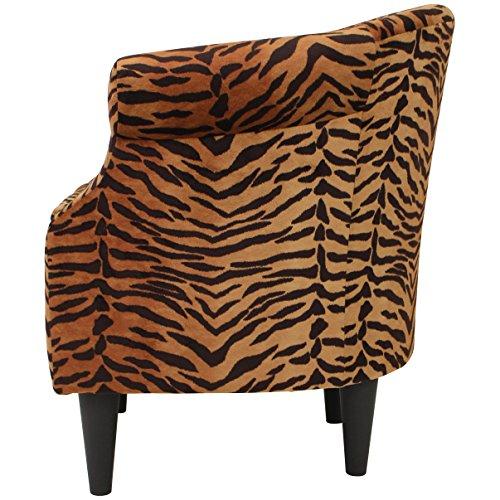 Parker Lane uch-nik-pon1 Safari Club Chair, Tiger Print - 5
