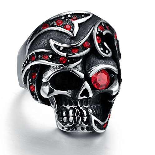 Halloween Stainless Garnet Simulated Silver product image
