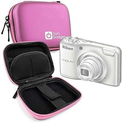 DURAGADGET Estuche Rígido Rosa para Cámara Nikon Coolpix A10 Silver/Polaroid IX828: Amazon.es: Electrónica