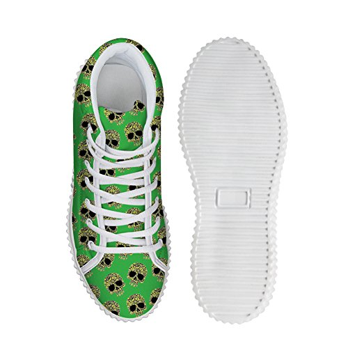 Abrazos Idea Moda Skull Zapatos With High Heels Plataformas De Mujer Zapatillas Skull Pattern 6
