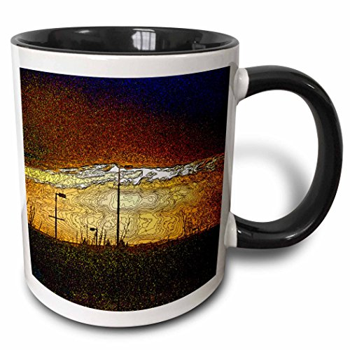 3dRose DYLAN SEIBOLD-PHOTO ABSTRACTION - LAMP POST SUNSHINE - 15oz Two-Tone Black Mug -