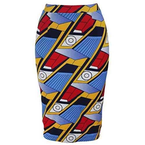 YFFaye Women's Trendy African Fashion Print Bodycon Midi Skirt (Harry Potter Dressing Up)