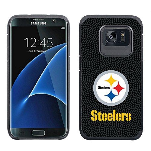 (NFL Pittsburgh Steelers True Grip Football Pebble Grain Feel Samsung Galaxy S7 Edge Case)