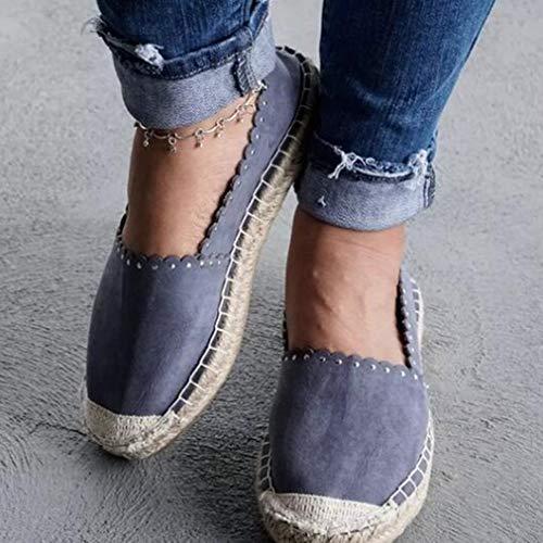 Spiaggia Grey Comody da a Zeppa Sandali On Romane Espadrillas Zeppe con Piatte Punta Hibote Black Shoes Ladies Grigio Pink Slip Gladiator Chiusa 78qRw