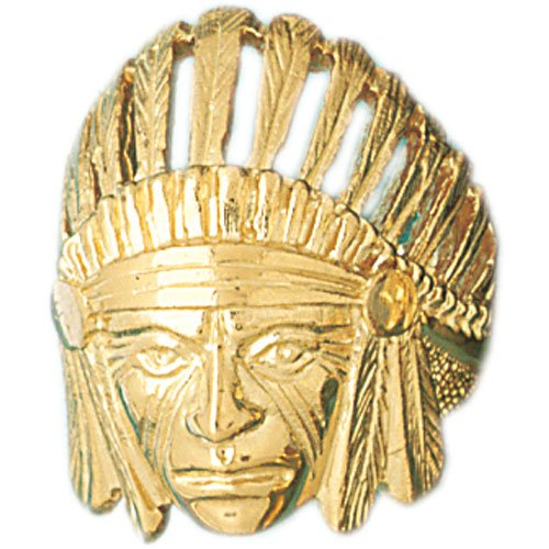 14K Yellow Gold Indian Head Men s Ring Amazon