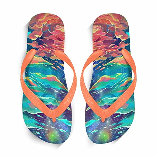 Sandals Summer Flop Beach Flops Slippers Women's Flip Comfortable amp; Orange Beach Flip shoes aY4Xn