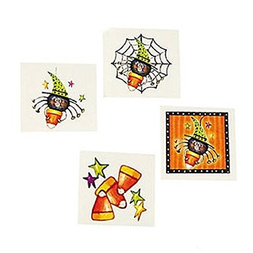 72 CANDY CORN & SPIDER Halloween Tattoos/PARTY FAVORS/Classroom