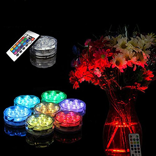 - NszzJixo9 Waterproof Submersible 10 LED Light RGB 16 Colors Waterproof Underwater Lights,Party Perfect Decorative Lighting,Suitable for Aquarium Lights, Christmas, Halloween