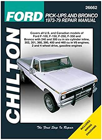 wiring diagram for 79 ford truck amazon com chilton 26662 ford pick up   bronco repair manual  chilton 26662 ford pick up   bronco