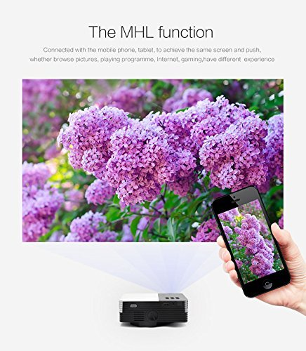 """AomeTech 24W Pico Portable 100"""" Screen LED LCD Projector Home Cinema Theater Video Game Projector AV TV VGA USB HDMI Interface Power Bank Supported #P3001"""
