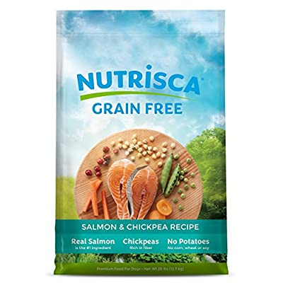 NUTRISCA Dry Dog Food Bag, Grain Free High Protein, Balanced Nutrition for All Life Stages & Breed
