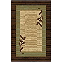 Maxy Home Hamam Striped Rectangle Multicolor 3 ft. 3 in. x 5 ft. Rubber Backed Area Rug