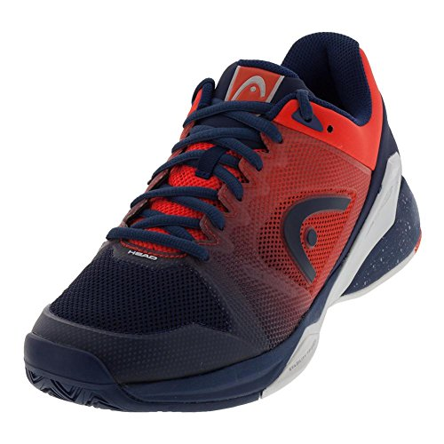 HEAD Men`s Revolt Pro 2.5 Tennis Shoes Blue and Flame Orange-(273008BLFO-S18)