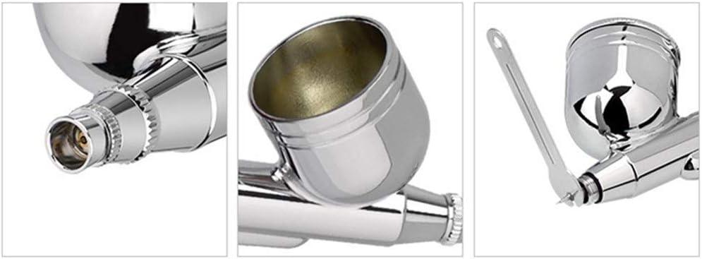 Huanhog Compresseur Aerographe 3 Sets Combo Airbrush for mod/èle a/éraulique Coloring pour Art Mod/èle Air Brush Outil