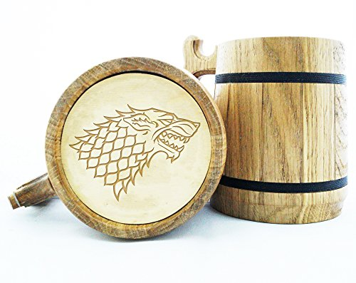 Game of Thrones Gifts / GoT / House Stark / Game of Thrones Gift / Winter is Coming / Engraved Mug Personal Gifts for Men / Beer Tankard K49