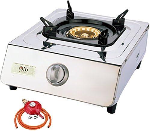 NJ ngb-100 portátil estufa de gas 1 quemador wok de acero inoxidable Piezo Camping al aire libre: Amazon.es: Deportes y aire libre
