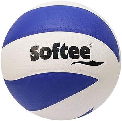 JIM Softee Balon Voleibol Tornado Blanco-Azul Talla 5: Amazon.es ...