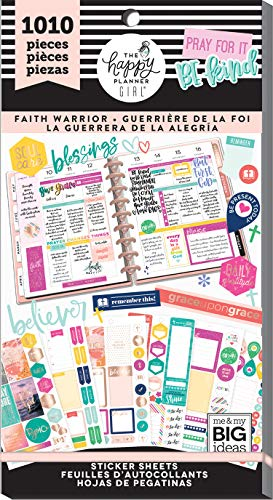 Christian Faith Stickers - Me & My Big Ideas PPSV-82-3048 The Happy Planner Girl - Value Pack Stickers - Faith Warrior