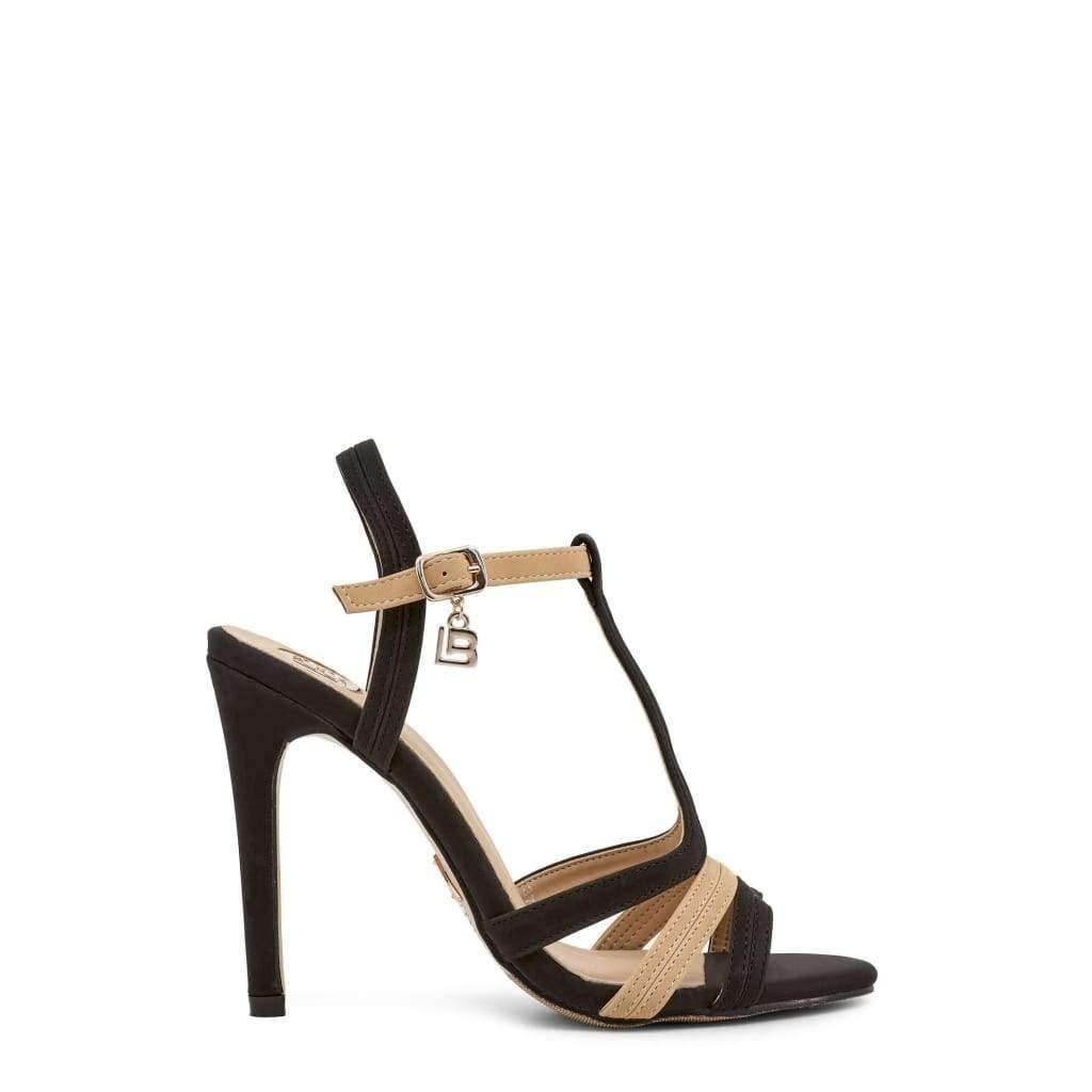 632/_Nabuk/_Black Laura Biagiotti Womens Sandals