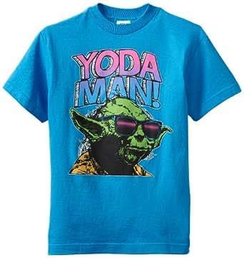 Star Wars Big Boys' Star Wars Yth Man Yoda, Turquoise, Medium