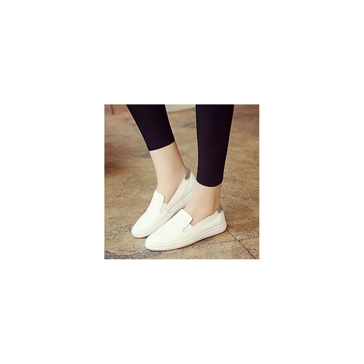 Slip-on Morbide Pelle white Basse Di Scarpe Tonda Mocassini Sneakers 38 Maternità In E Donna Yan Da Testa A Casual